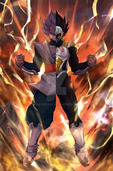 Baby Vegeta/Goku Black Fusion