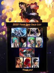 Year End Sale List