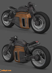 Scifi motorcycle by adh3d