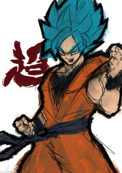 Super Saiyan Blue Goku - Sketch