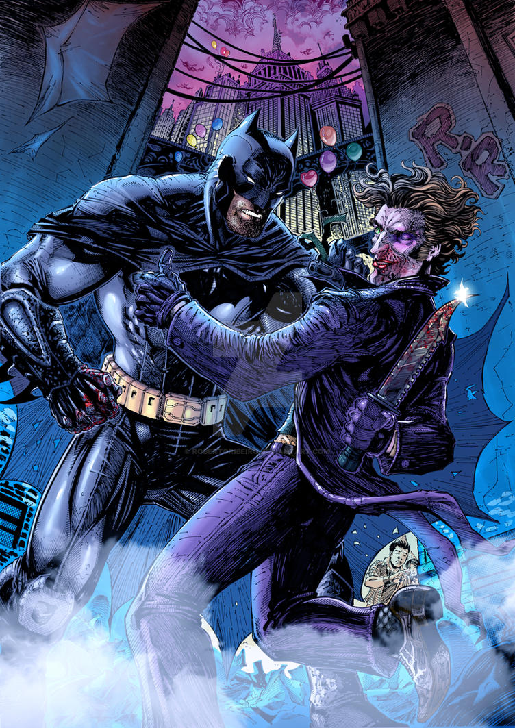 Batman and Joker _in color by RobertoRibeiro