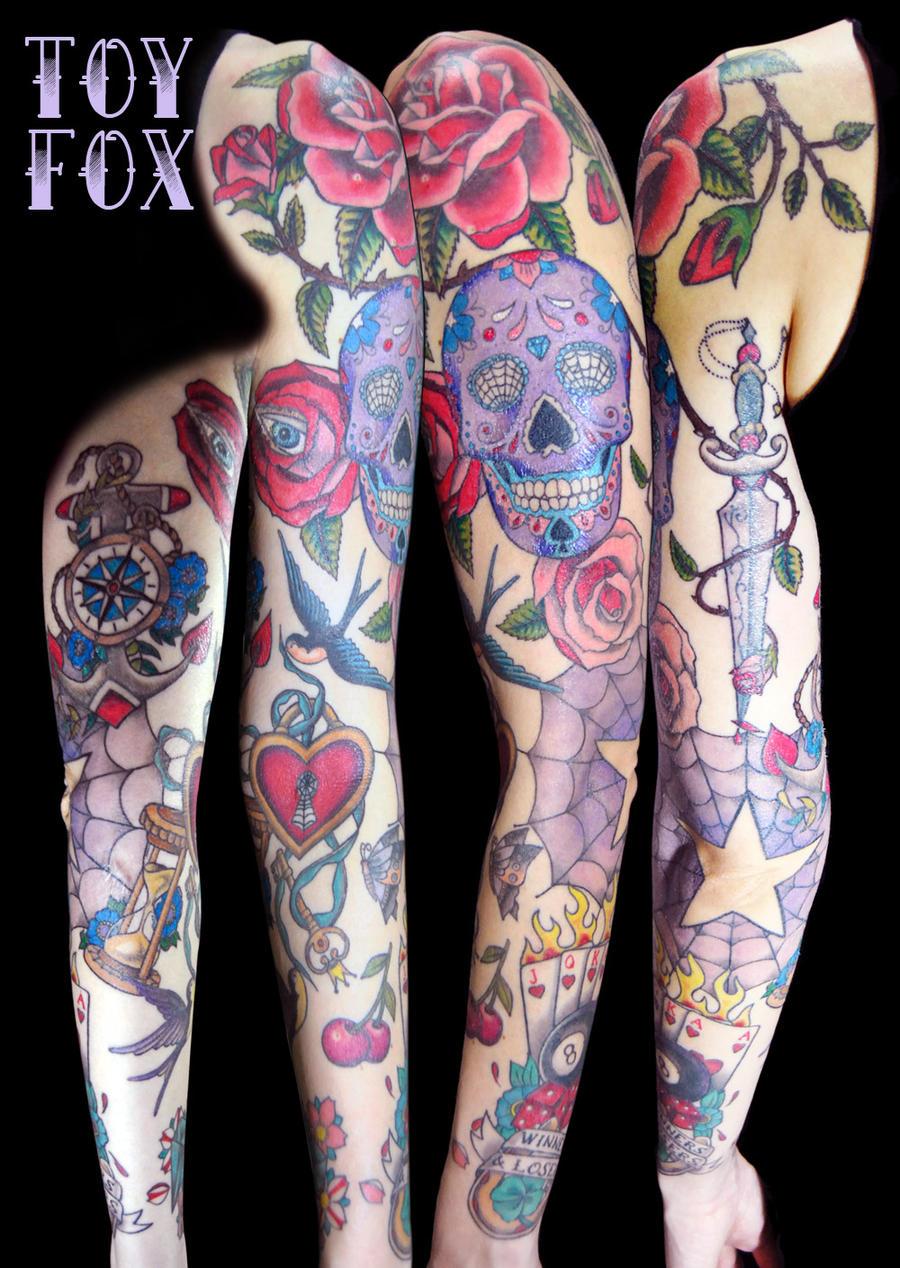 Old school sleeve by inomis on deviantart for Old school tattoo sleeve