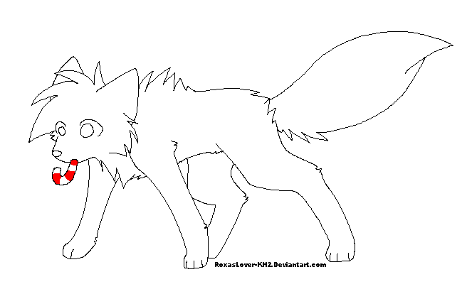 christmas wolf coloring pages | .: Christmas Wolf Template :. by RoxasLover-KH2 on DeviantArt