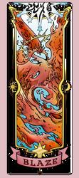 Cardcaptor Sakura Clear Card - Blaze card by NakkiNya