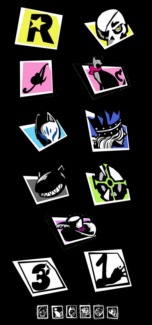 Persona 5 - Text icon set by KarmaDash