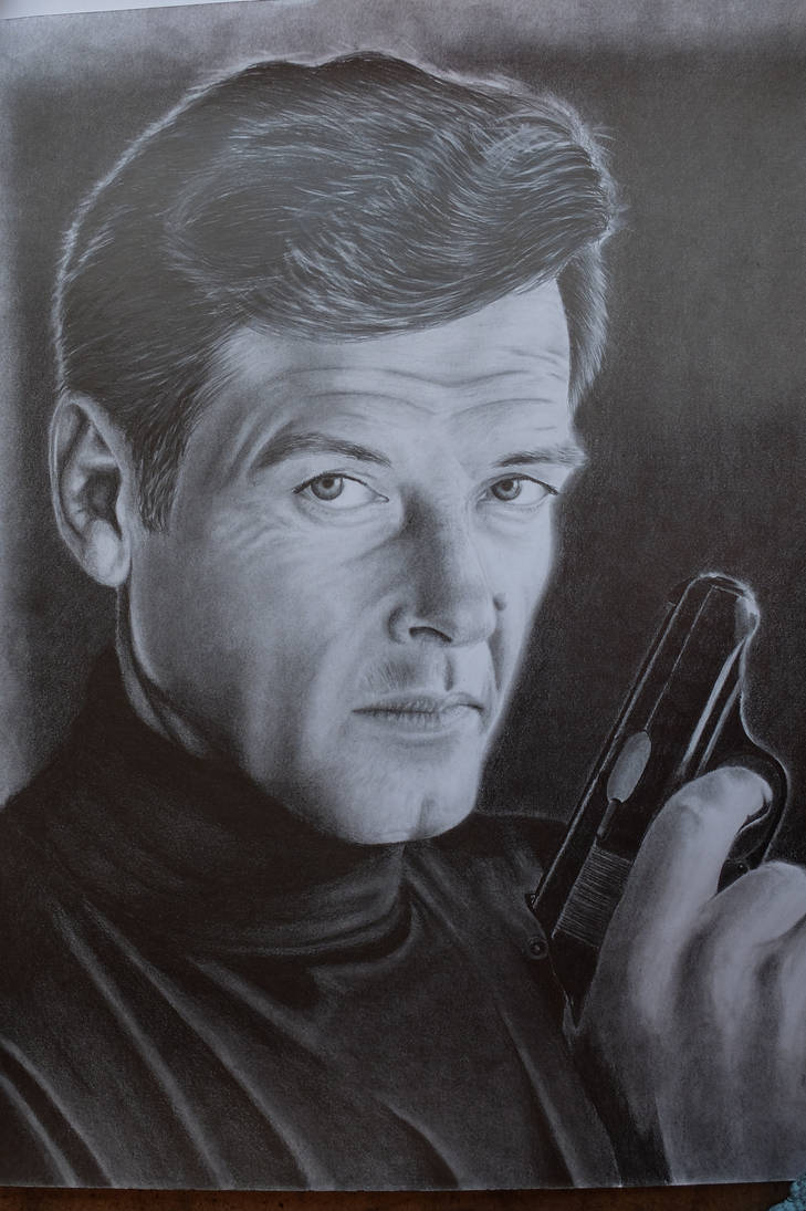 Sir Roger George Moore (Simon Templar, James Bond) by Miniart89