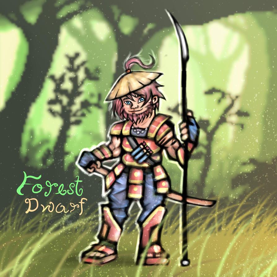 Forest  Dwarf   (bg by arvind) by Xorsama
