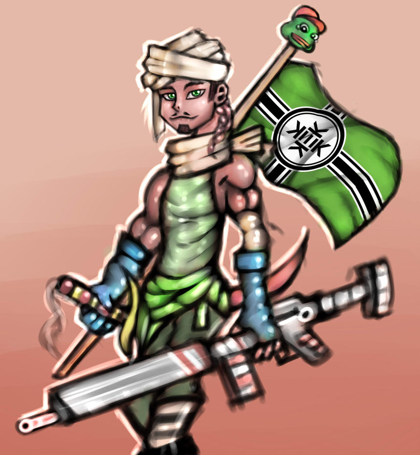 Foreigner from kekistan by Xorsama