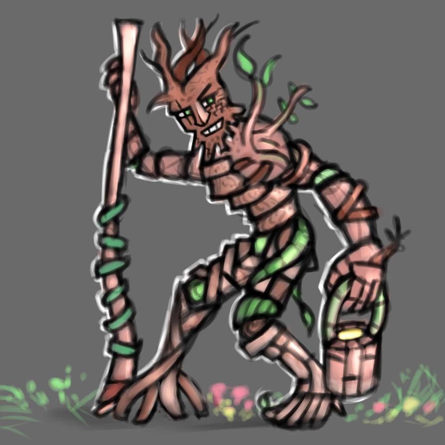 Almost Fallen Tree Man by Xorsama