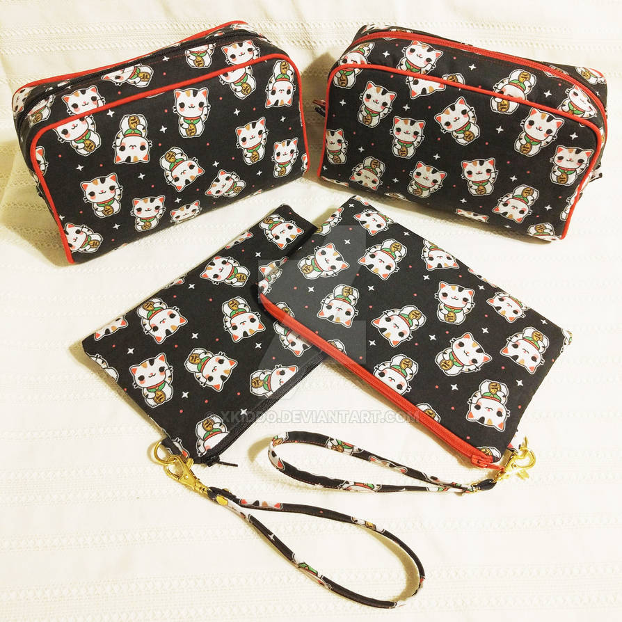 Lucky Cats Travel Bag Set
