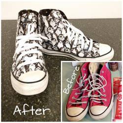 Custom Star Wars Porg Shoes by xkiddo