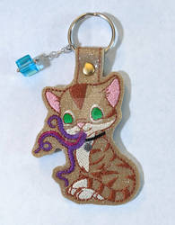 Goose Keychain with Tesseract Charm