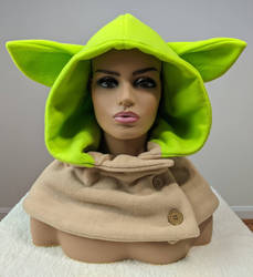 Adorable Space Battle Alien Hooded Cowl