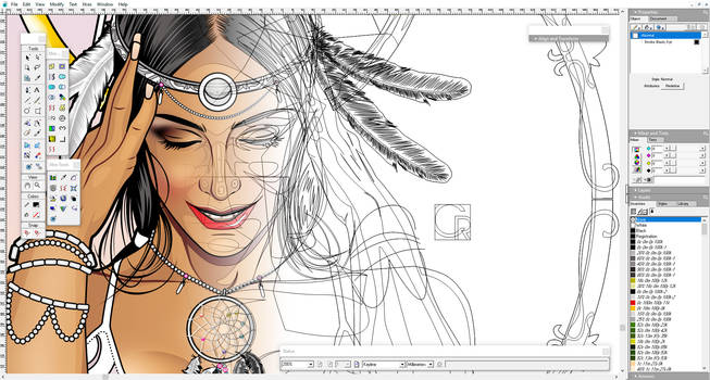 Dreamcatcher (screenshot with outlines preview)