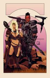 TESV Tales #1 - Mercenaries [cover artwork] by crcarlosrodriguez