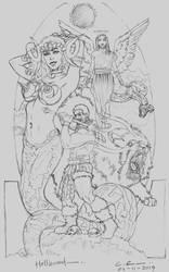Hellhound [WIP 1 - Original Pencil Sketch]