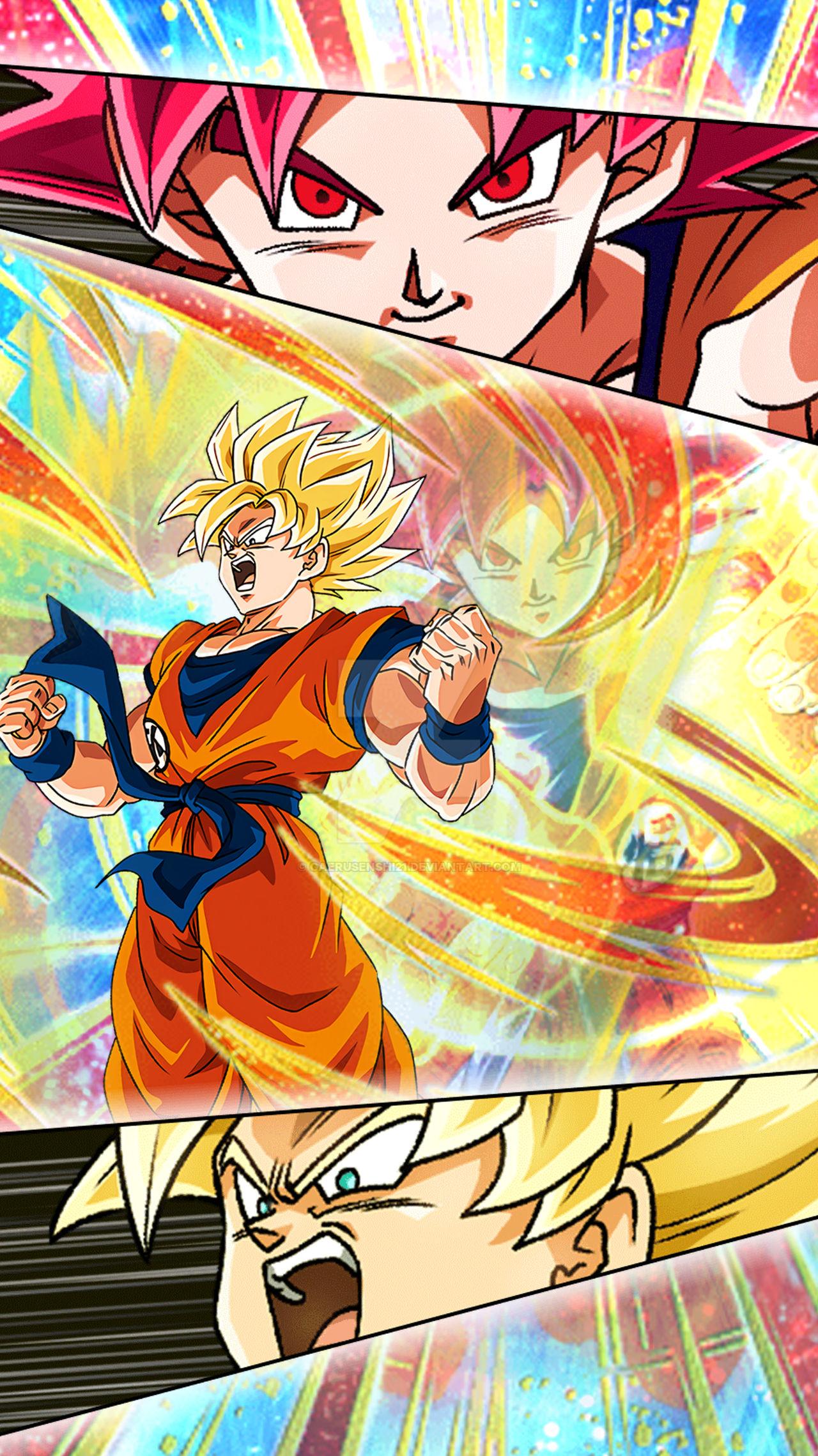 Wallpaper Goku Dragon Ball Z Dokkan Battle 4 By Gaerusenshi21 On