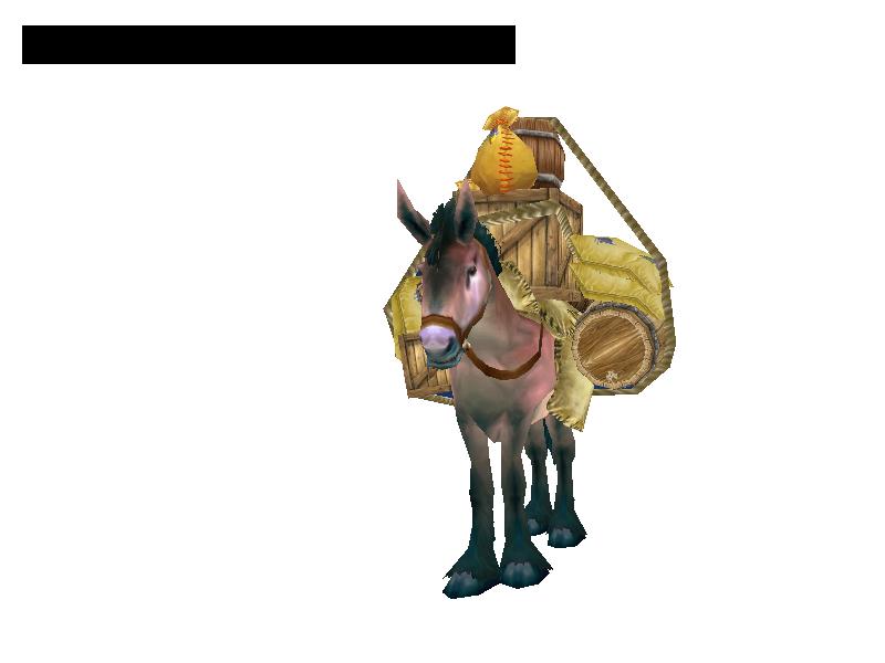 Pack mule drawing