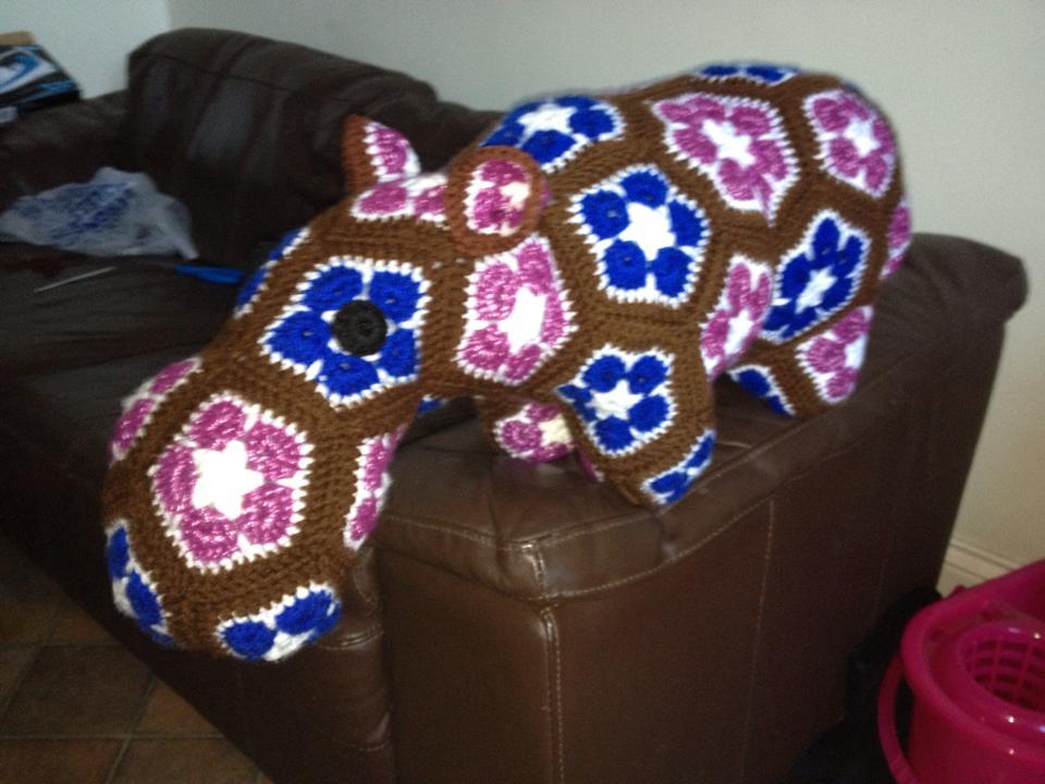 Mrs B's african flower crochet Lottie elephant | Etsy | 720x960