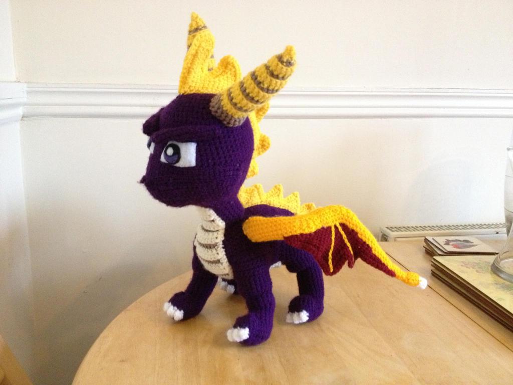 Spyro the Dragon Crochet Plush by Mr-Nova on DeviantArt