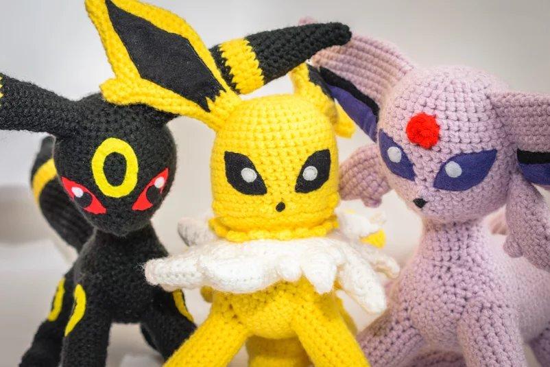 Crochet Jolteon, Espeon and Umbreon by Mr-Nova on DeviantArt