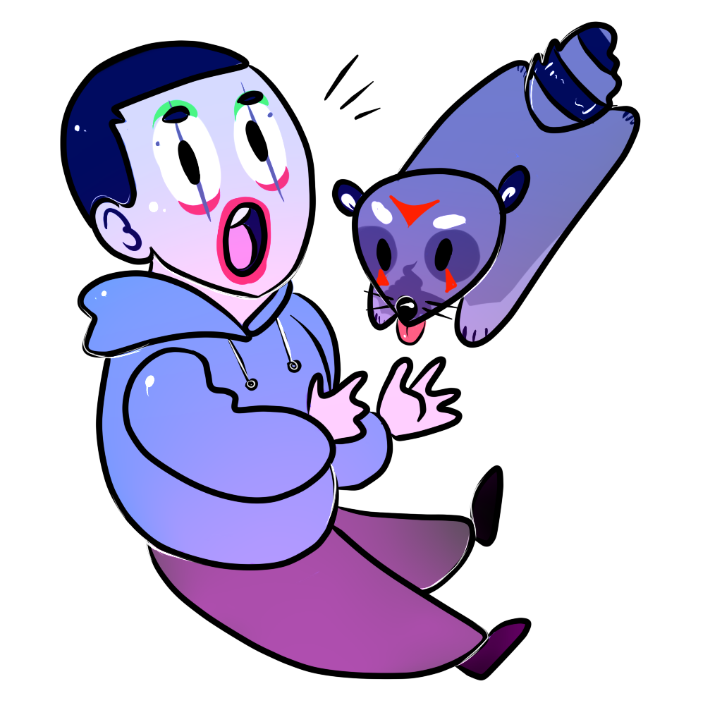 Tiny Batcoon and Delirious by CombobulatedDismay on DeviantArt H20 Delirious Face