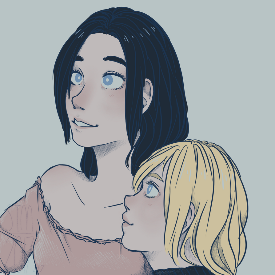 Frieda and Historia by silveyytm