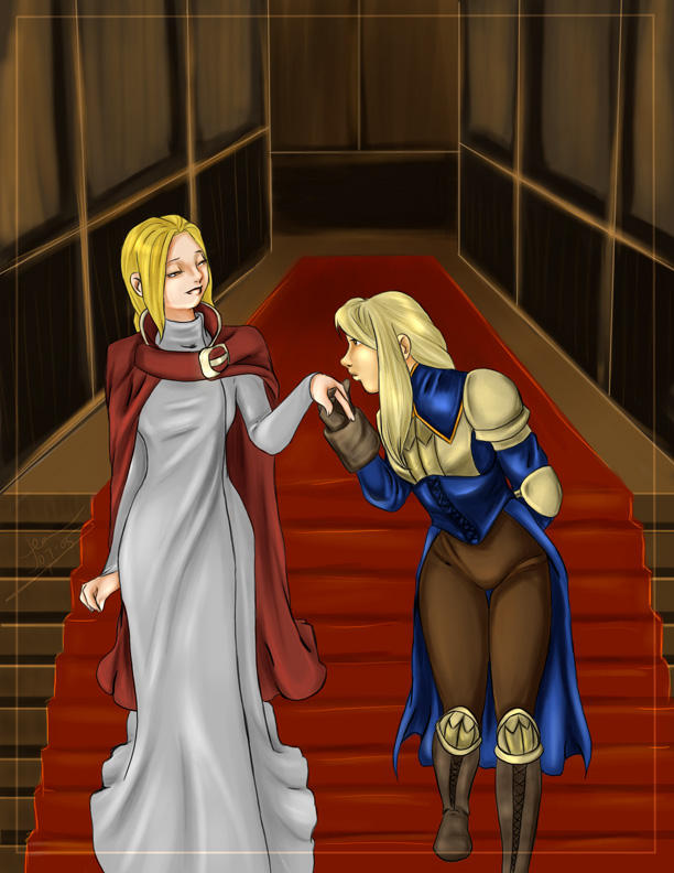 FFT Agrias and Ovelia by nightambre