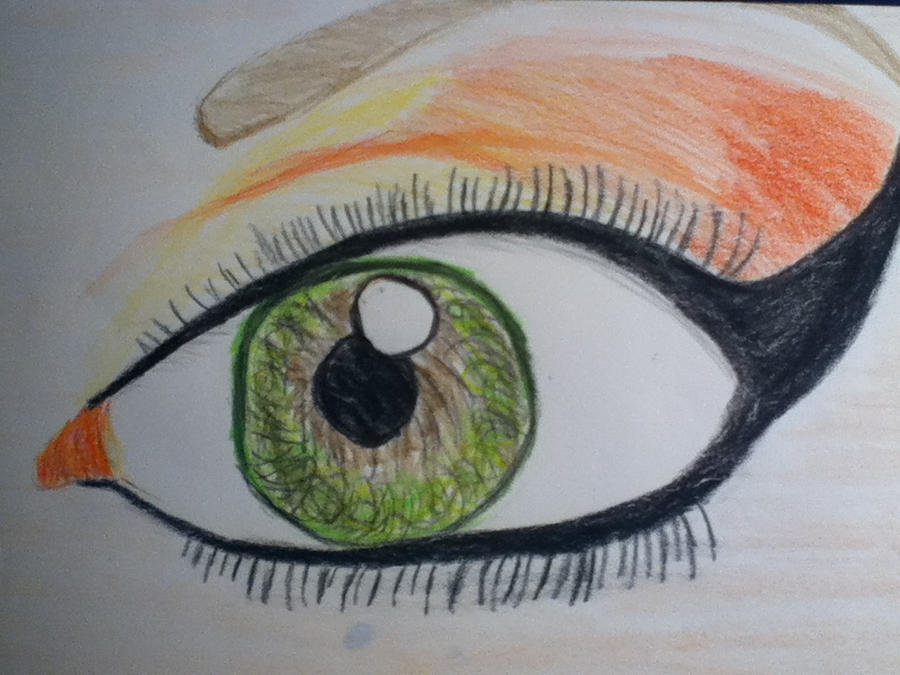 Justriven eye makeup drawing by tinkerbell48