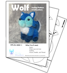 Wolf Plush Pattern by WhiskersMT