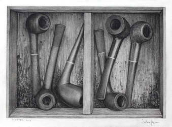 Six Pipes - drawing