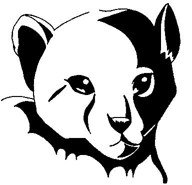 High contrast Cheetah drawing by D1g1m0ncrazy on DeviantArt