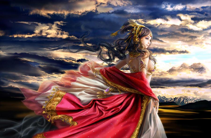 фото девушка бог