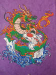 dragon koi posca colors