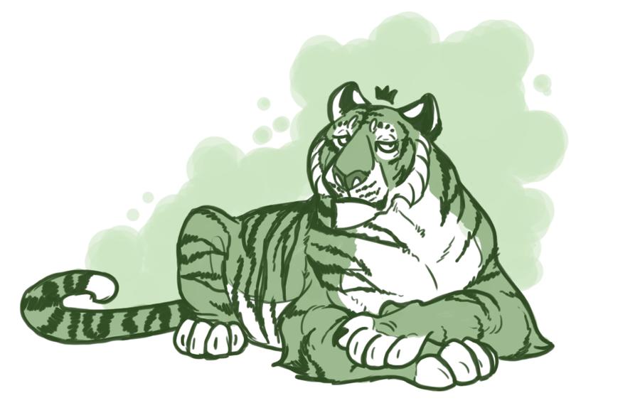 Tiger by urealistisk