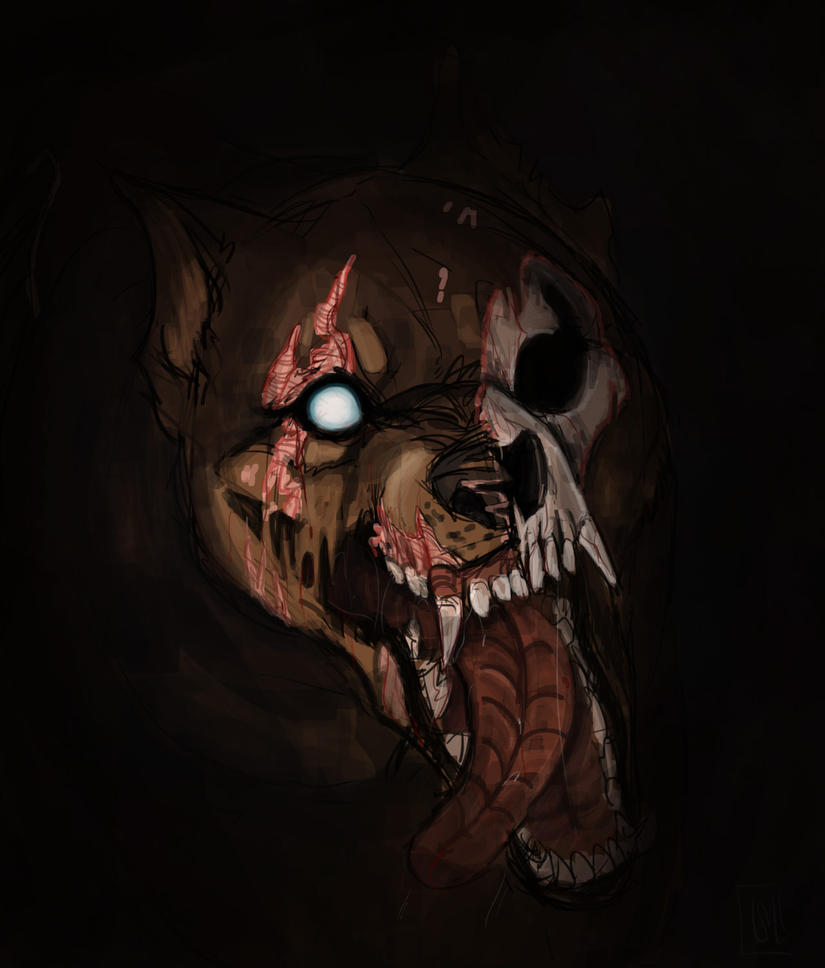Halloween-zombiedog by urealistisk
