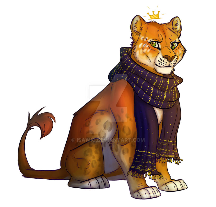 Lioness with scarf by urealistisk