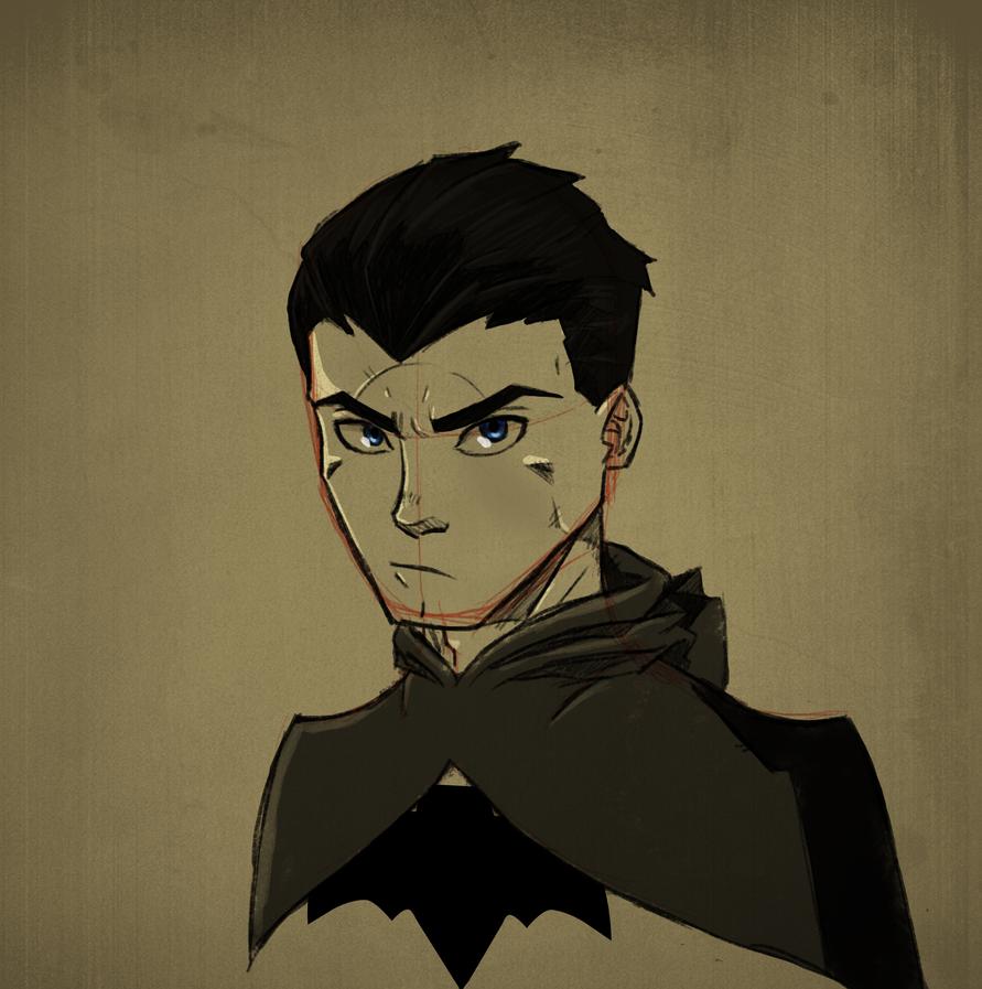 Bruce Wayne sketch by RisingDiablo