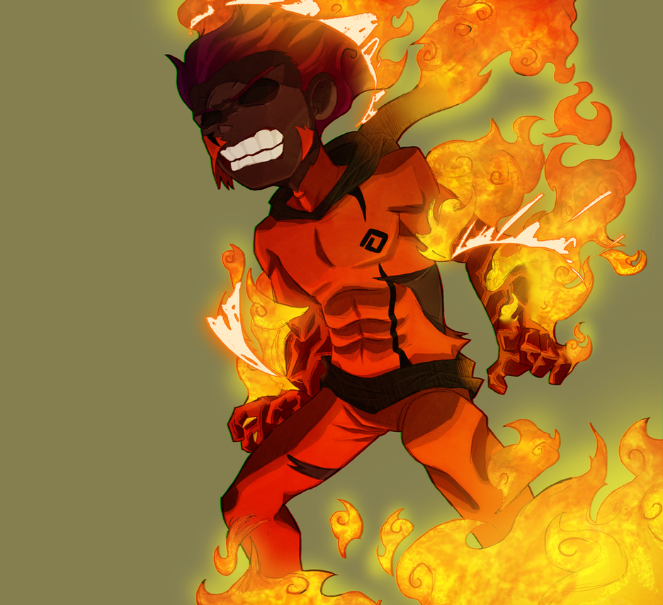 Burning up colored by RisingDiablo