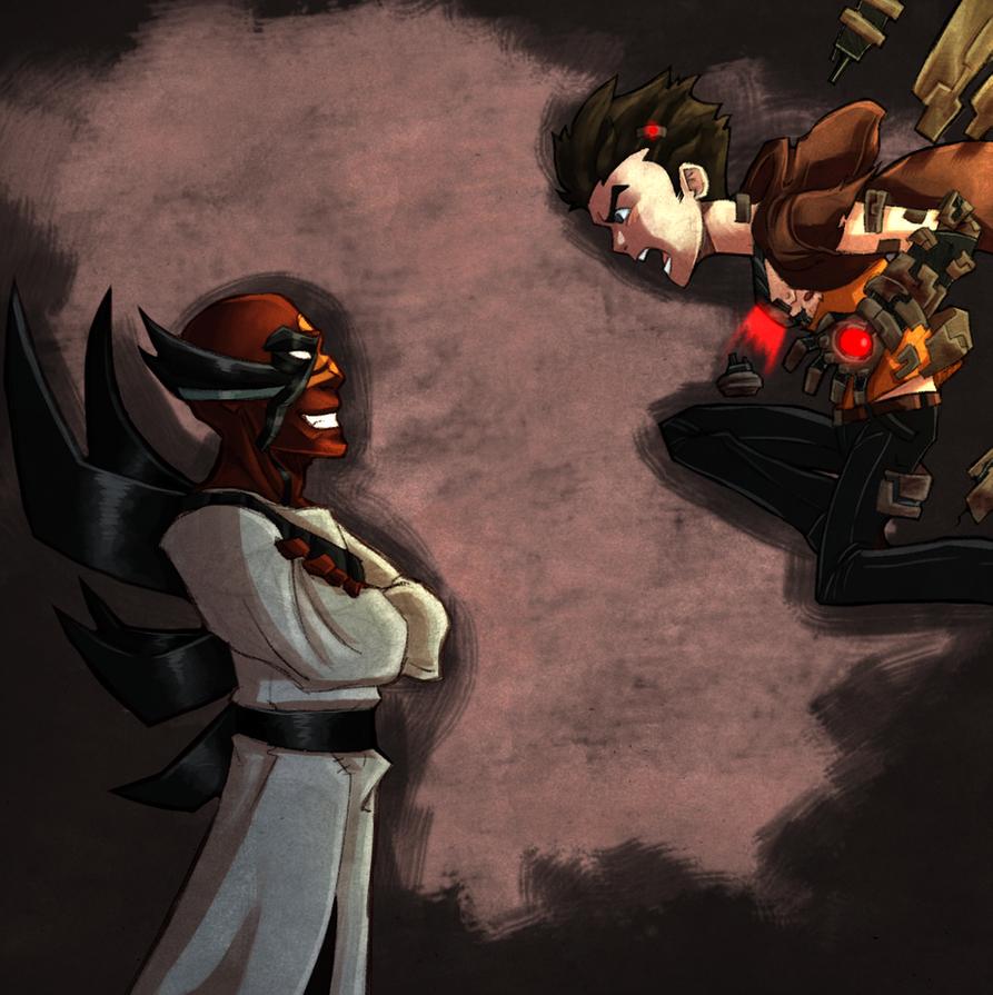 Jack Blank vs the Magus by RisingDiablo