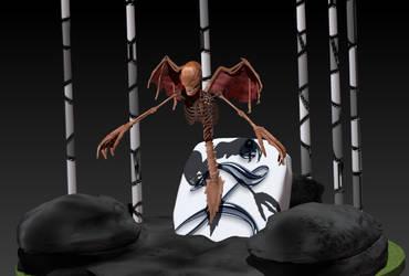 Flying skeleton demon by D3vilKill3r23