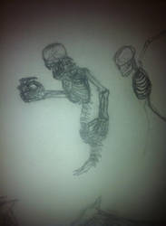 Flying skeleton demon concept by D3vilKill3r23