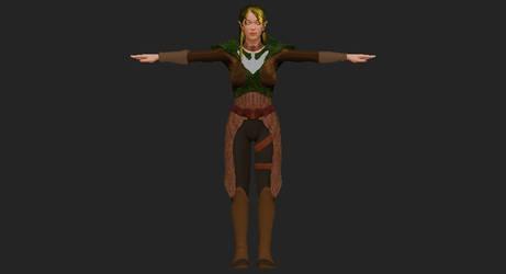 Female Elven Ranger by D3vilKill3r23