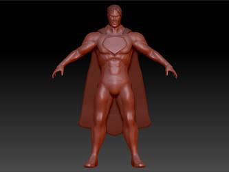 Superman sculpt - WIP by D3vilKill3r23
