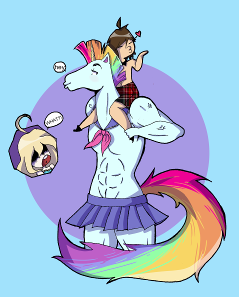 Moe the Moe-hawked Unicorn by the-only-artist