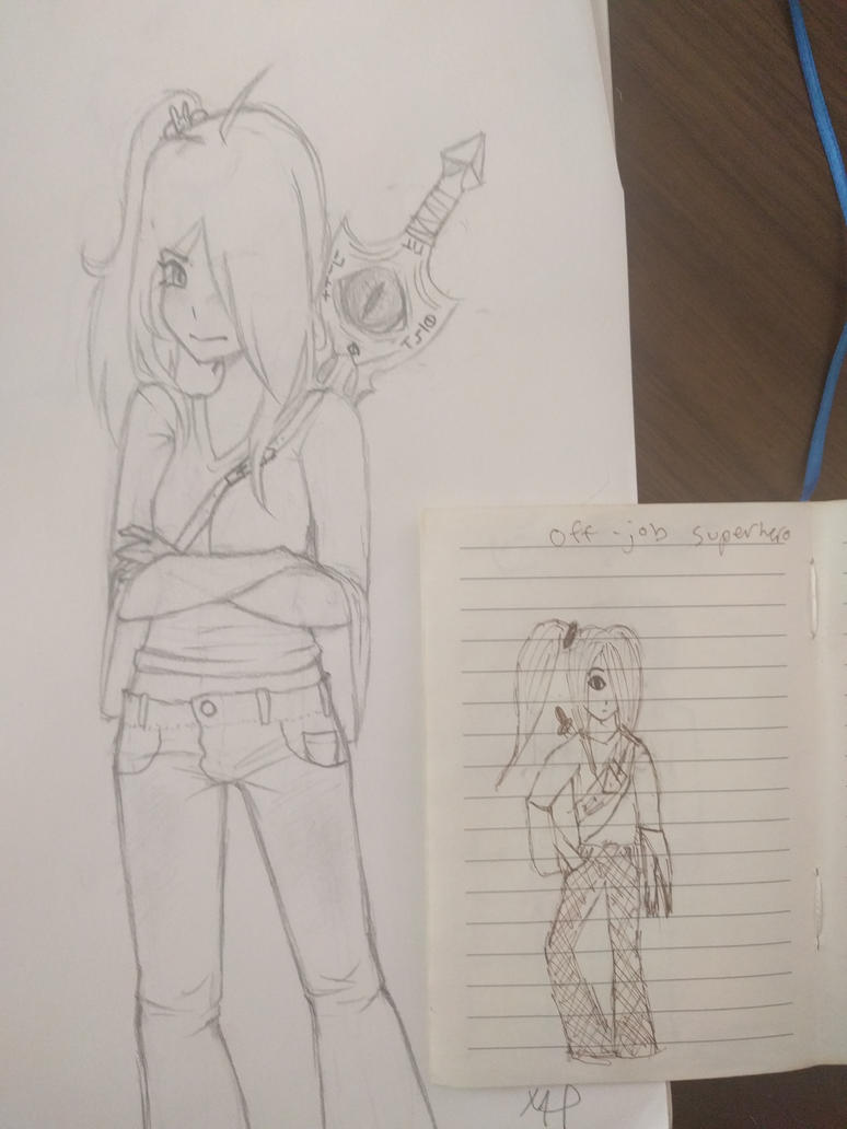 Redrawing old art by the-only-artist