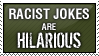 racist jokes stamp by neanimorph