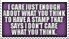 I -don't- CARE STAMP by neanimorph