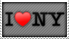 I LOVE NY STAMP by neanimorph