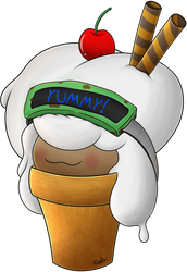 *GIVEAWAY* Cottony Ice Cream by WhimsiCalem